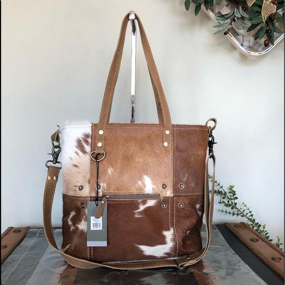 Myra Bag Bags Camel Tote Genuine Leather Fur Nwt Poshmark Want to get leather and hairon bag, upcycled handbag & vintage canvas bag? poshmark